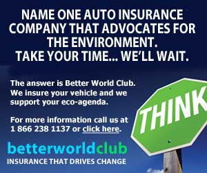 We insure your vehicle and support your eco-agenda.
