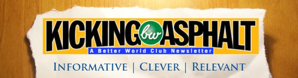 Better World Club Kicking Asphalt Newsletter Banner