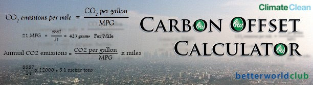 Better World Club Carbon Offset Calculator