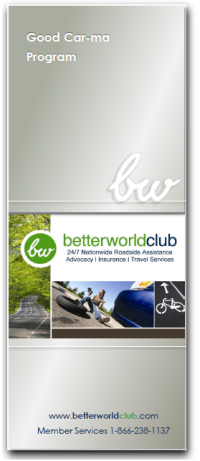 Better World Club Good Car-Ma Program Banner